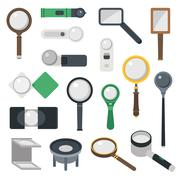 Magnifier loupe icons vector illustration - stock illustration
