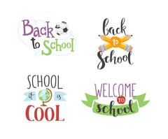 Back to school text vector - stock illustration