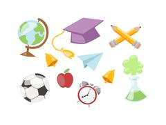 Back to school symbols Stock Illustration