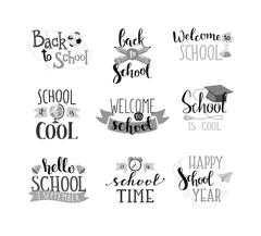 Back to school text vector Stock Illustration