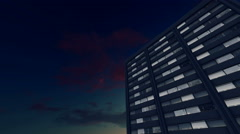 High rise office buildings night view 4K Stock Footage