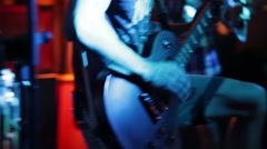 Guitarist in a rock band Stock Footage