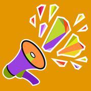 Megaphone icon design Stock Illustration