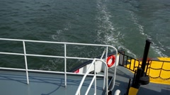 Water Flows As Ferry Sails Stock Footage