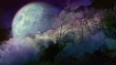 Dead Forest Full Moon 4K Stock Footage
