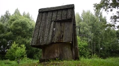 Old well in the moss Stock Footage