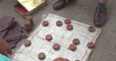 Playing Chinese chess, xiangqi, China Stock Footage