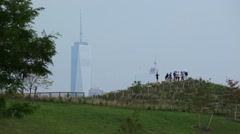 Over The Hills Stand The World Trade Center Stock Footage