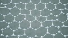 Zoom to atoms connected in hexagon network. Stock Footage