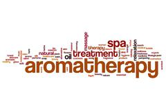 Aromatherapy word cloud concept Stock Illustration