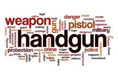 Handgun word cloud concept Stock Illustration