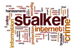Stalker word cloud concept Piirros