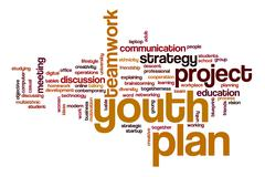 Youth Planword cloud concept Stock Illustration