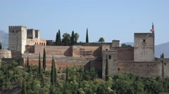Alhambra Fortress In Spain Stock Footage