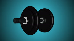 Abstract animation rotation dumbbell Stock Footage