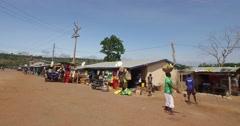 African local village market walk pov 4K Stock Footage