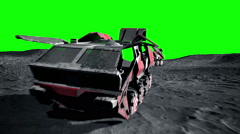 Moon rover on  the moon. space expedition. Green screen footage - stock footage
