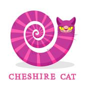 Cheshire Cat. Magic animal with long tail. Striped  Fairy tale of the beast Stock Illustration