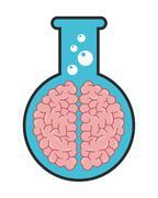 test tube icon - stock illustration