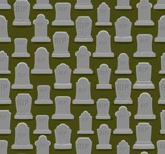 RIP seamless pattern. Old gravestone ornament. Cemetery background. Tomb text Stock Illustration