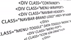 HTML Code Background Stock Footage