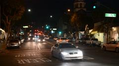 Night-time-traffic-bokeh Stock Footage