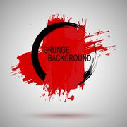 Grunge Illustration Black and red Paint Spray Texture, Background to Create - stock illustration