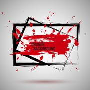 Grunge Illustration Black and red Paint Spray Texture, Background to Create Piirros