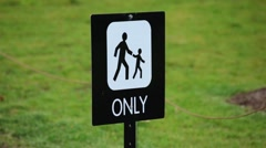 Children With Adults Only Sign Stock Footage