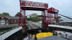 Goodbye Governors Island.  Hello Manhattan. Stock Footage
