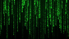 The Matrix falling text cuneiform Stock Footage
