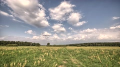 Beautiful landscape. European landscape. Clouds moving in the sky. Stock Footage