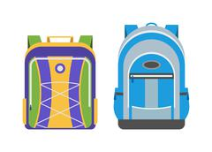 School bags vector isolated - stock illustration