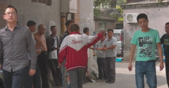 Chinese street life, Beijing alley Stock Footage
