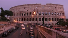 The Colosseum, Rome, Italy, sunset, time lapse Stock Footage