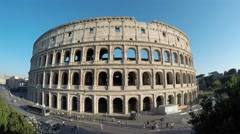 The Colosseum, Rome, Italy, day. The most impressive building of Rome Stock Footage