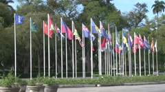 Flag Square in Paramaribo. Stock Footage