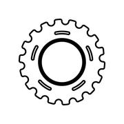 Gear icon. Machine part design. Vector graphic - stock illustration