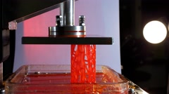Progressive additive technology, lattice cylinder created using DPL 3d printer - stock footage