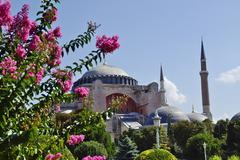ISTANBUL, TR - CIRCA AUGUST 2009 - View of Istanbul, Blue Mosque and Sultanha - stock photo