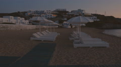 POV Walk on a Deserted Beach After Sunset Stock Footage