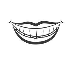 Mouth and smile icon. Part of boby design. Vector graphic Stock Illustration