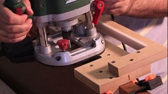 Master makes doors - milling Stock Footage
