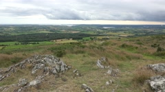 View from the summit of the John F. Kennedy Arboretum, Co Wexford, Ireland. Stock Footage