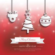 Christmas applique background. Vector/illustration. Stock Illustration