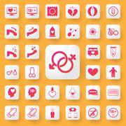 Sex symbol and icon application set. vector illustration. Stock Illustration