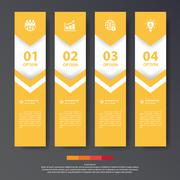 Design flat shadow step number banners /graphic or website. Vector/illustrati - stock illustration