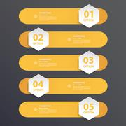 Design flat shadow step number banners /graphic or website. Vector/illustrati Stock Illustration
