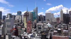 Overview of New York City buildings seen from above 4k Stock Footage