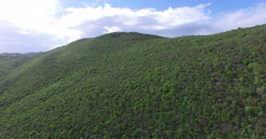 Aerial View of Hill Stock Footage